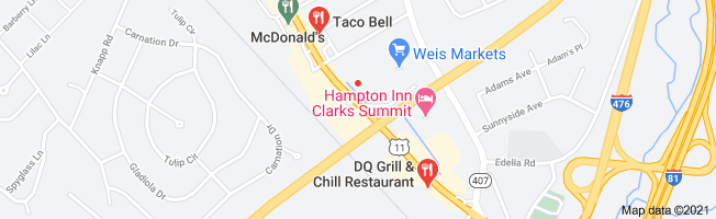 Map of fast food